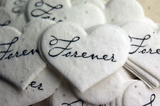 Heart Shaped Forever Flower Seed Recycled Paper Wedding Memorial Favors