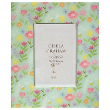 Gisela Granham Pastel Flower Gloss Laminated Blue Picture Frame