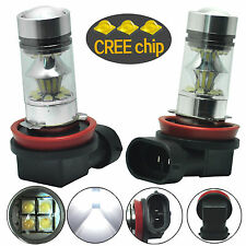 2pcs H11 H8 HID White 6000K 100W LED Cree Projector Fog Driving DRL Light Bulbs