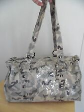 Mossimo Supply Co. Large Green/Gray Camoflage Sequin Shoulder Bag, Excellent