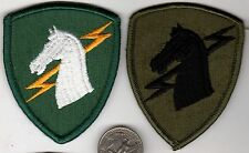 PAIR OF US ARMY PATCHES ONE Patch Color & ONE Subdued CLOTH BADGE SIGNAL UNIT