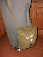 SWISS MILITARY ARMY CANVAS SHOULDER BAG WITH SHOULDER STRAP REPRODUCTION