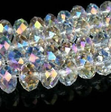 600PC 3x4mm White AB SWAROVSKI Crystal Faceted Loose Bead