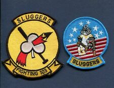 VF-103 SLUGGERS US Navy Grumman F-14 TOMCAT Fighter Squadron Jacket Patch SET