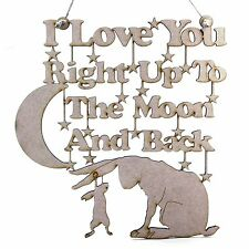Guess How Much I Love You Decoration Hanger. Wooden/MDF. Nutbrown Hare and Moon