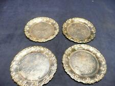 USED Vintage Antique retro Set of 4 made in china silver plated coasters
