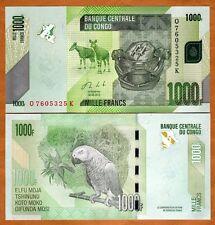 Congo D. R., 1000 (1,000) Francs, 2013, Pick New, UNC   Parrot