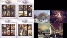 RIJKSMUSEUM PAINTINGS fr.GRENADA 2001  x4 S/S + 4 M/S ** MNH  @@ PERFECT @@