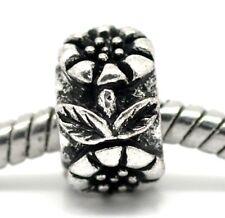 Sunflower Flower Garden Ring Spacer Bead for Silver European Charm Bracelets