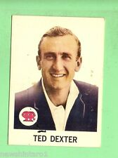 #D87. 1965  SCANLENS CRICKET CARD #38  TED DEXTER