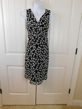 Motherhood maternity S Small black and white butterfly print career church dress