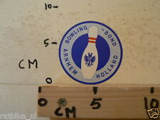 STICKER,DECAL BOWLING BOND ARNHEM HOLLAND