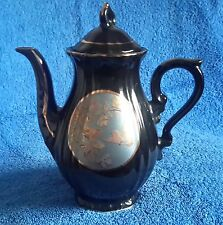COLLECTABLE STEEL BLACK JAPANESE TEA POT WITH 'CHOKIN' STYLE ENGRAVING