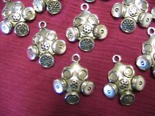 "STEAMPUNK GAS MASKS, Lot of 2 Tibet silver charms, doll,jewelry,arts 1-1/4"" x 1"""