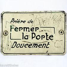 Ancienne Plaque tôle peinte ASCENSEUR, vintage loft/émaillée/deco/atelier/usine