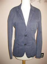 *WOW* $229 NWT BENETTON SISLEY BLUE CHECK SLIM FIT JACKET 42