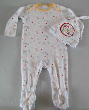 DISNEY WINNIE THE POOH Unisex BABYGROW + HAT sleepsuit outfit baby girl boy 6-9