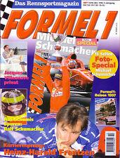 MOTORSPORT ZEITSCHRIFT MAGAZIN 10-1996 FORMEL 1 M SCHUMACHER FOTOSPECIAL u.v.a.