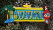 MARGARITAVILLE PARADISE TROPICAL ISLAND BEACH POOL PATIO TIKI BAR SIGN PLAQUE