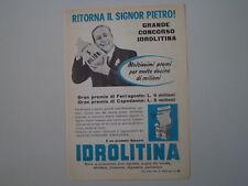 advertising Pubblicità 1959 IDROLITINA GAZZONI