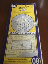 old michelin rodez - nimes map  no 80