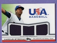 Marcus Stroman 2011 Topps USA Triple Game Used Jersey Relic SP/240 Blue Jays