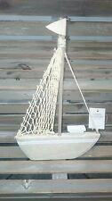 Gisela Graham Sailing Ship Boat Wooden Nautical Shabby Chic Home Gift Decoration
