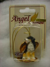 BERNESE MOUNTAIN DOG ANGEL ORNAMENT Figurine Statue NEW Christmas puppy Berner