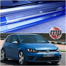 VW Golf Mk7 13  (R) 3dr Stainless Steel Kick Plate Car Door Sill Protectors 4pce