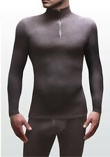 "Mens Microfleece Heat Holders Black Thermal Base Layer 0.61 Tog S 34-36"" Chest"