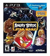 PS3 Angry Birds Star Wars MOVE NEW Sealed REGION FREE USA Jedi Master