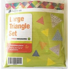 Matilda's Own Large 60 Degree Triangle Patchwork Template Set of 6