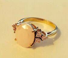 """925 RING S 7 STERLING SILVER /YELLOW GOLD VERMEIL PINK """"925 UTC"""""""