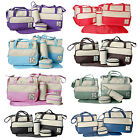 5 Pcs Baby Nappy Changing Bag Set Diaper Mat Bottle Food Holder Travel Holiday