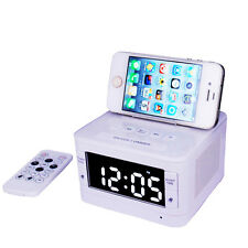 Bluetooth Speaker Alarm Clock FM Digital Radio Charging Station for iOS /Andriod