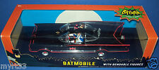 "BATMOBILE 1:24 Scale with 3"" Bendabe Batman & Robin Figures Classic TV Series DC"