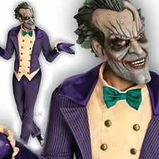 Homme deluxe arkham city joker fancy dress costume batman halloween costume + masque