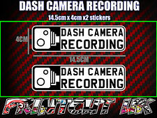 DASH CAMERA RECORDING DASH CAM CAR STICKERS X2 decal dvr car van bike truck bus