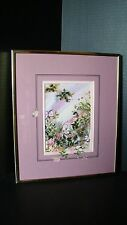 Mary Ann T. Davis Framed Embellished Print Titled Summer Bounty With COA