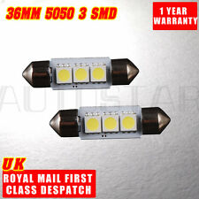 2 x 3 SMD LED 36mm 239 C5W CANBUS NO ERROR XENON WHITE NUMBER PLATE LIGHT BULB