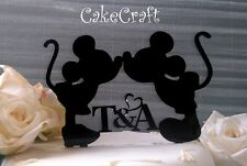 Acrylic initial Mickey Minnie Mouse Birthday anniversary cake topper decoration
