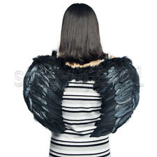 New Black  Angel Wings Feathered Teens Halloween Theatrical Costume Cosplay