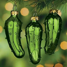 3 PACK - LEGEND OF THE PICKLE CHRISTMAS TREE ORNAMENT LUCKY HOLIDAY TRADITION
