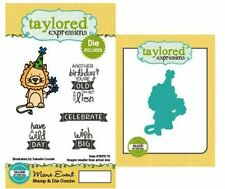 Taylored Expressions Rubber Cling Stamp(5) & Die(1) Set  MANE EVENT  ~TEPS176