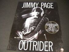 JIMMY PAGE 1988 Promo Display Ad release of his first solo album OUTRIDER