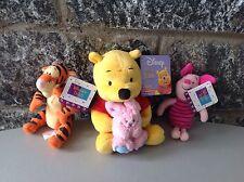 Vintage# Disney Soft Plush 3 X Winnie The Pooh Tigro Pimpy# New With Tag