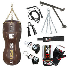 4FT Real Leather Body Bag / Uppercut Boxing Complete Training Set