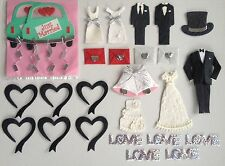 26 Wedding Lot assortment Marriage nuptials Diecut Handmade Mulberry Paper cards
