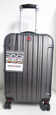"Swiss Gear Sojourn 20"" Hard Side Spinner Carry-On Luggage Charcoal"