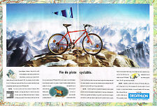 PUBLICITE ADVERTISING 054  1993  DECATHLON  vélo ( 2pag) CORTINA D'AMPEZZO